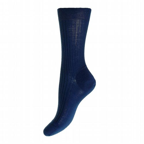 Women's Merino Wool Socks - Dark Blue